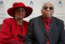 Former Arlington Mayor, Elzie Odom and wife, Ruby Odom
