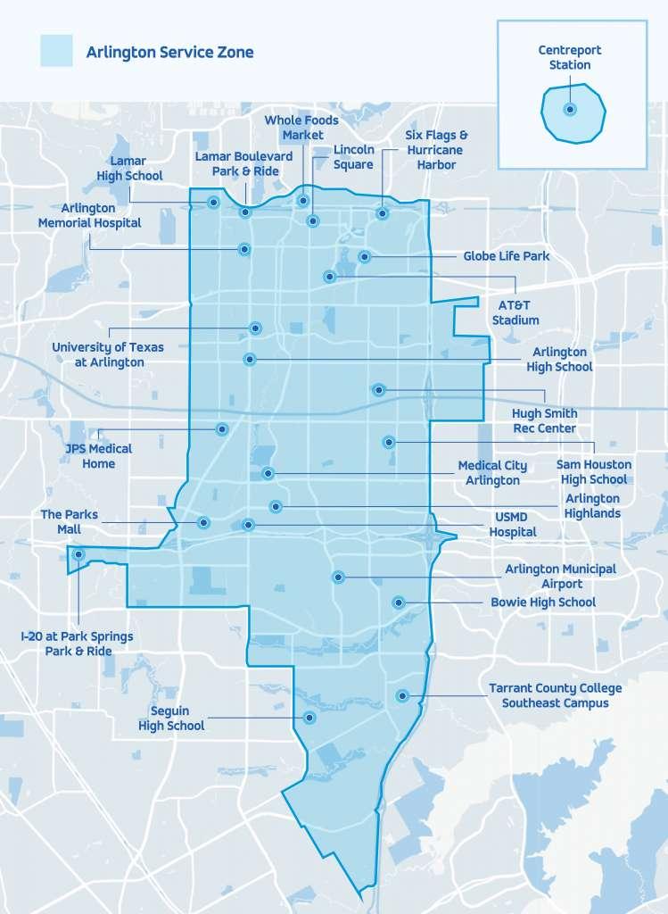 via service area map 2020